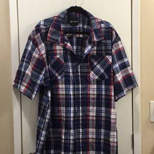Akademiks blue plaid 5x shirt
